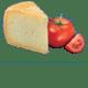 Italienische Tomaten, Pecorino RomanoDOP