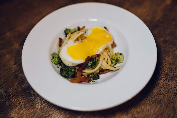 Bucatini Recipe with Sous Vide Egg and Crispy Guanciale