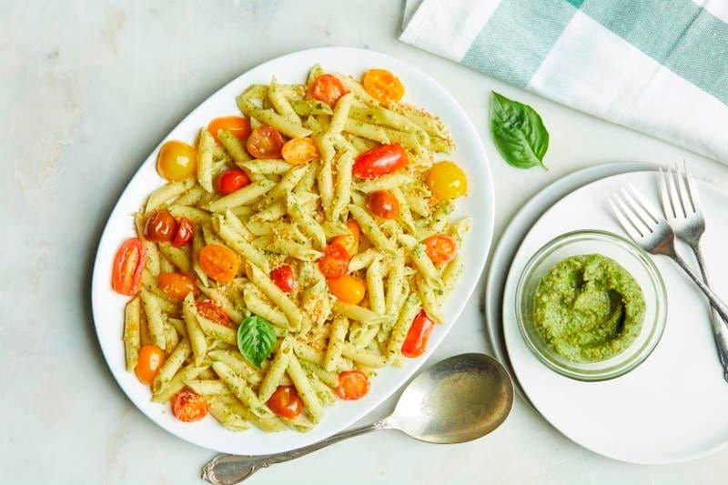 Chef'd Penne Pistachio Pesto Cherry Tomato recipe