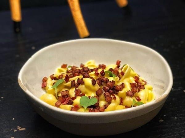 Shell Pasta in Creamy Corn Sauce with Pernil Recipe