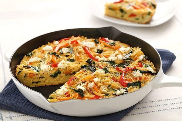 Fideo Cut Spaghetti Frittata Recipe