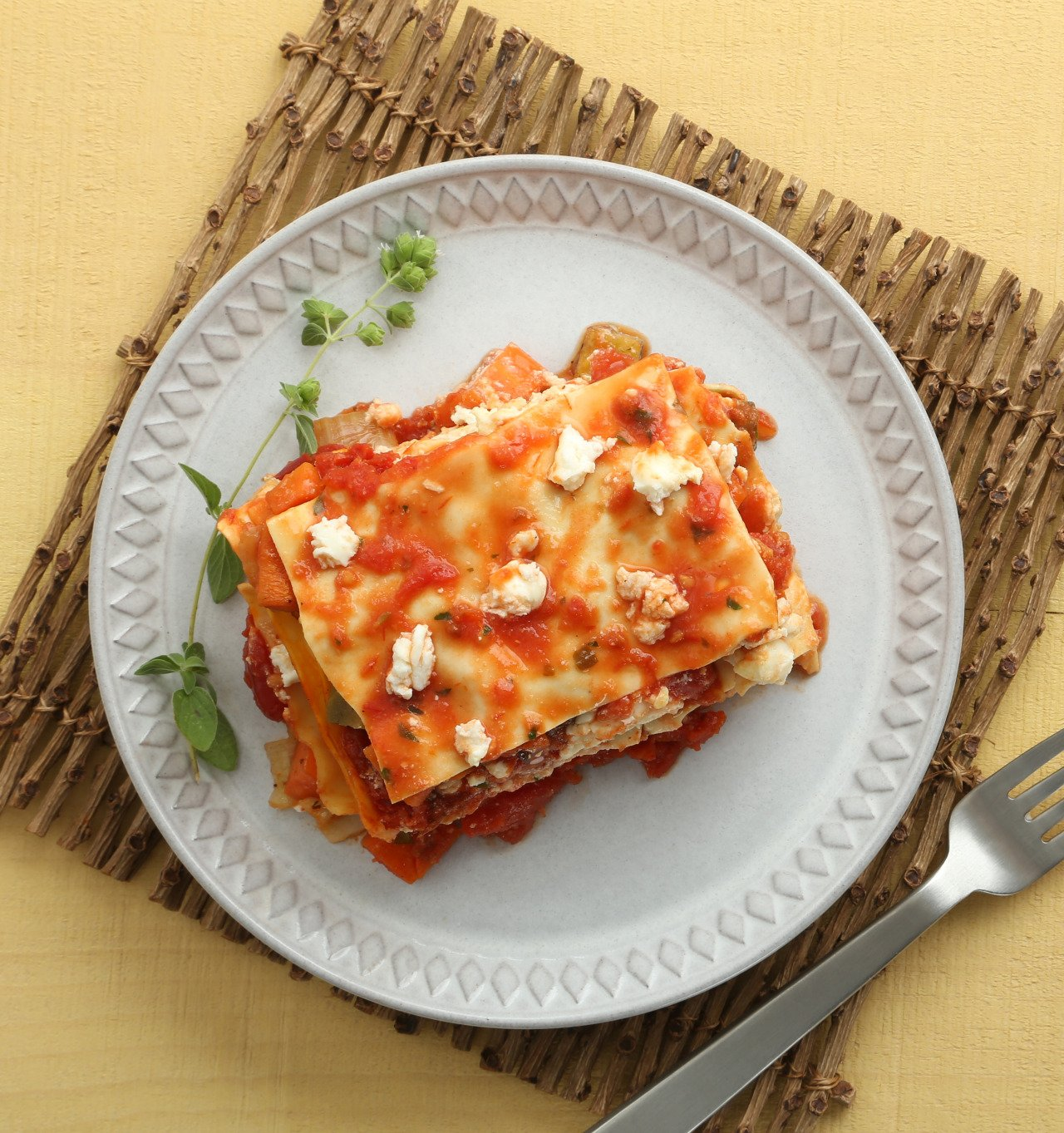 Roasted Vegetable Goat Cheese Lasagna