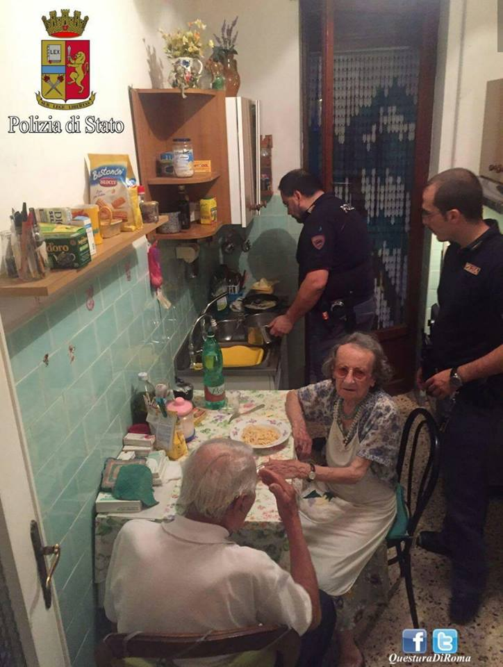 Italian Police Officers Cook Pasta for Distressed Elderly Couple