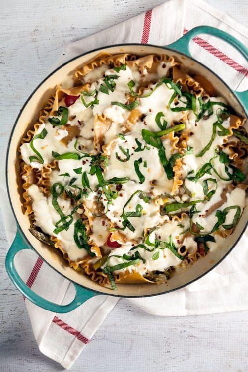 Summer Vegetable Lasagna Skillet.