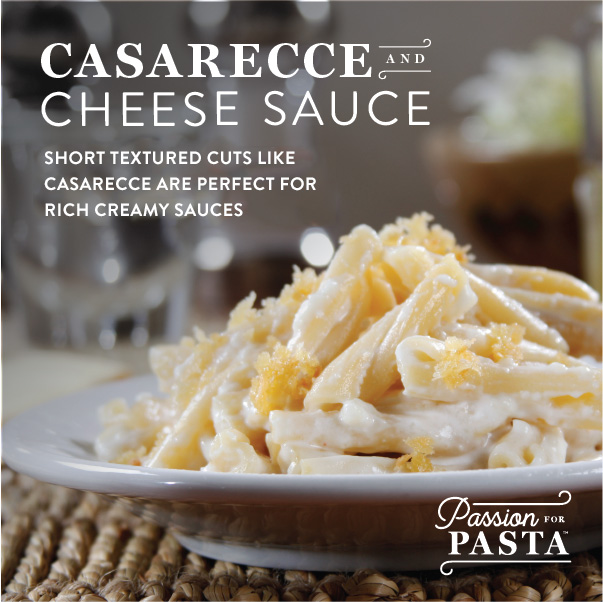 Graphic: Casarecce Pasta Pairs Well With Creamy Cheese Sauces