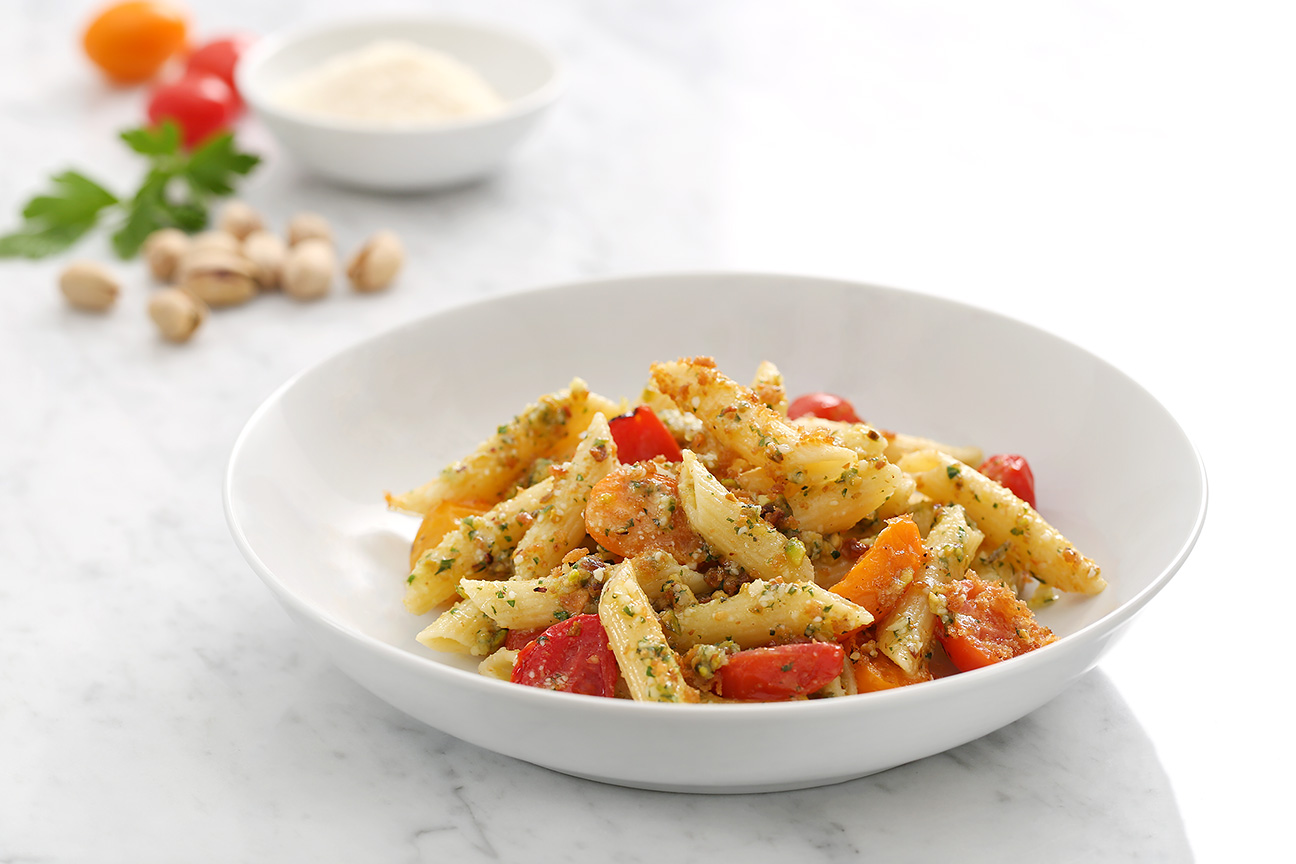 Pistachio Pesto Penne Inspired by Paul Nicklen
