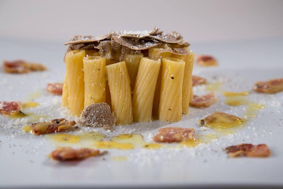 Barilla Collezione Rigatoni Recipe with Porcini Mushrooms and Creamy Leek and Fontina Cheese Sauce