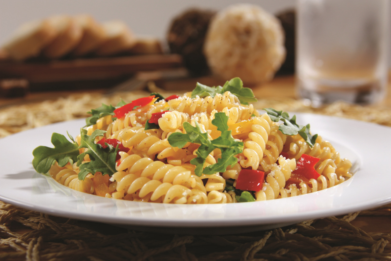 Rotini with Arugula and Peppers