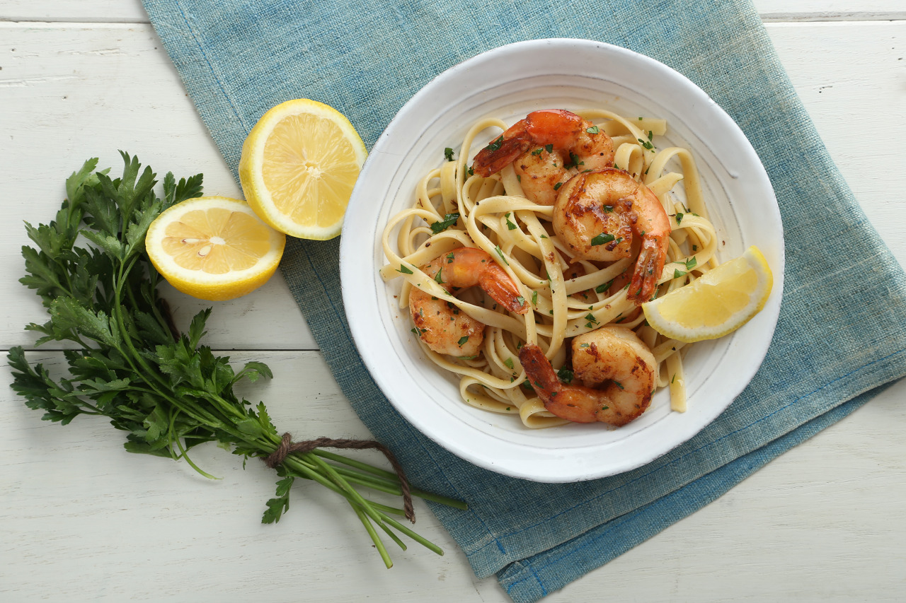Shrimp Fettuccine with Beer Reduction