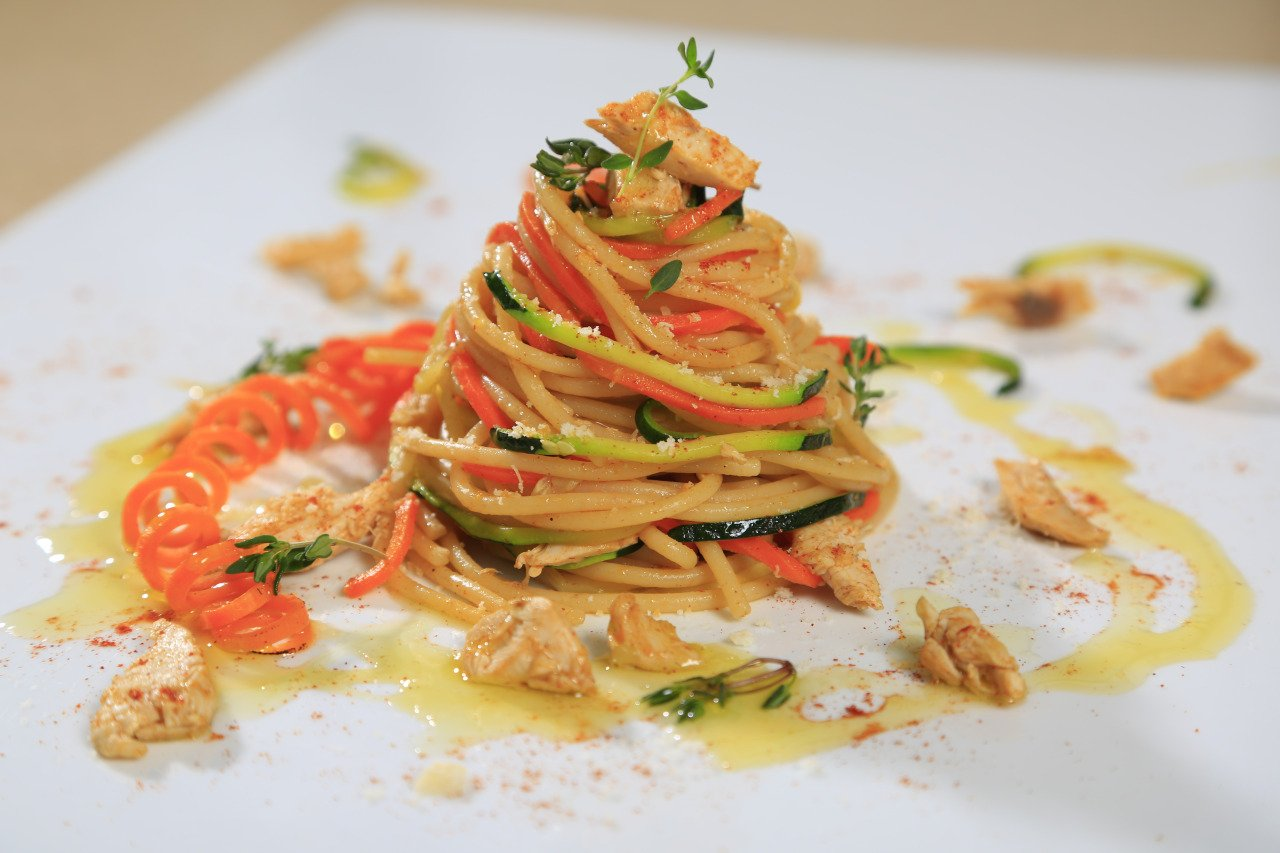 Spaghetti with Spiralized Vegetables Recipe