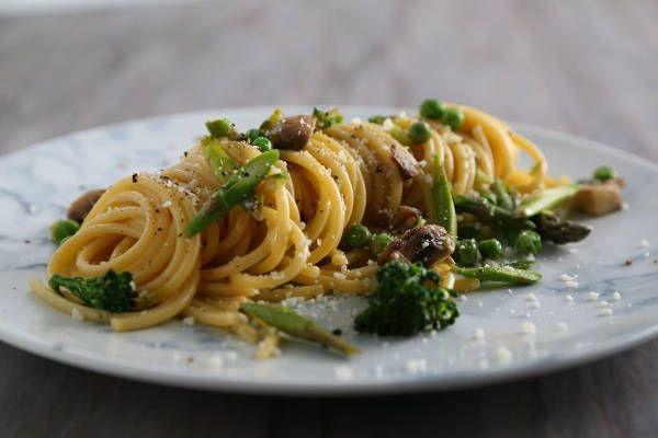 Vegetarian Bucatini Carbonara Recipe