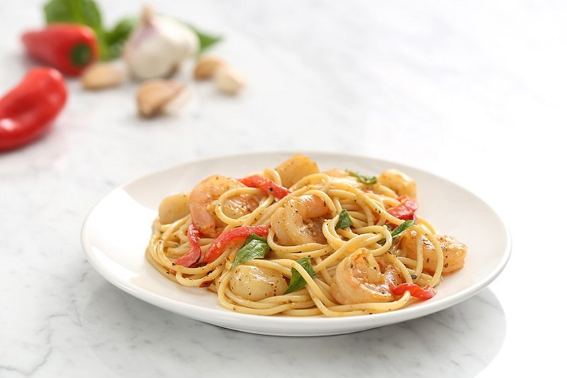 Spicy Seafood Spaghetti Inspired by Grace Byers
