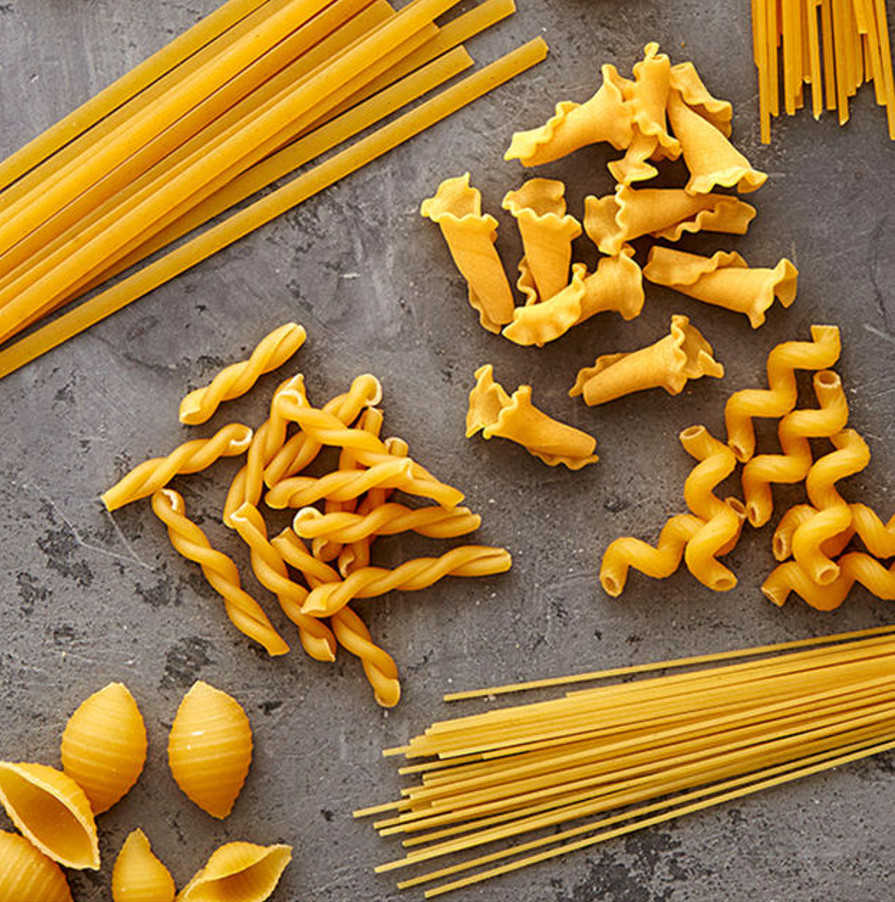 pasta shapes for promo card