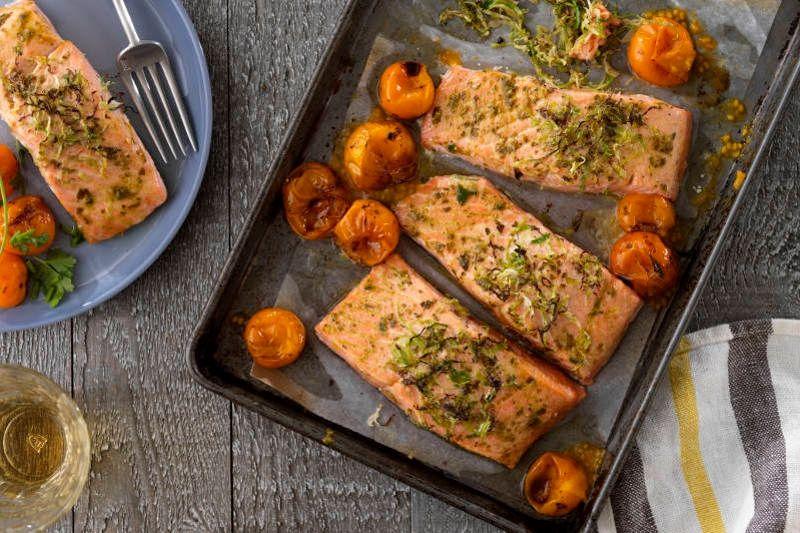 baked pesto salmon recipe