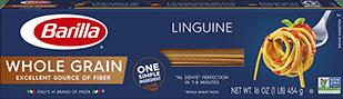 barilla whole grain linguine package