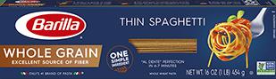 barilla whole grain thin spaghetti package