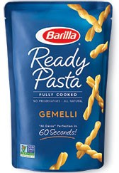 ready pasta Gemelli package new label removed