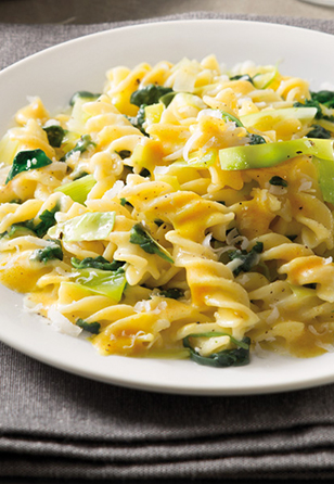 Brezglutenski špageti karbonara