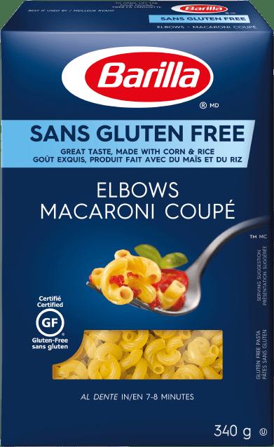 Macaroni coupé sans gluten