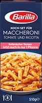 Koch Set fur Maccheroni Tomate und Ricotta