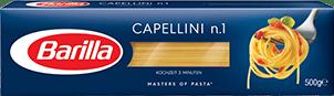 Klassische Sorten Capellini Verpackung Barilla