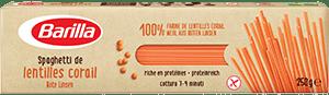 Spaghetti aus roten linsen