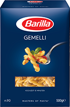 Klassische Sorten Gemelli Verpackung Barilla