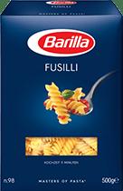 Klassische Sorten Fusilli Verpackung Barilla