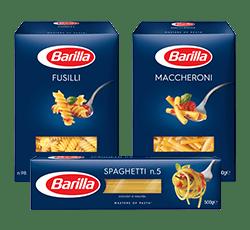 Klassische Sorten Range Verpackung Barilla