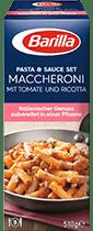Pasta und Sauce Set fur Maccheroni Tomate und Ricotta