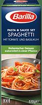 Pasta & Sauce Set für Spaghetti mit Tomate und Basilikum