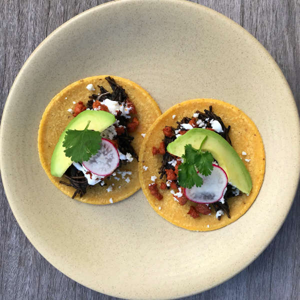 Black Bean Fideo Spaghetti Tacos Recipe