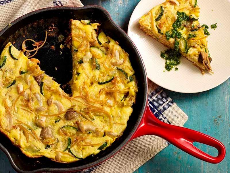 Breakfast Pasta Frittata