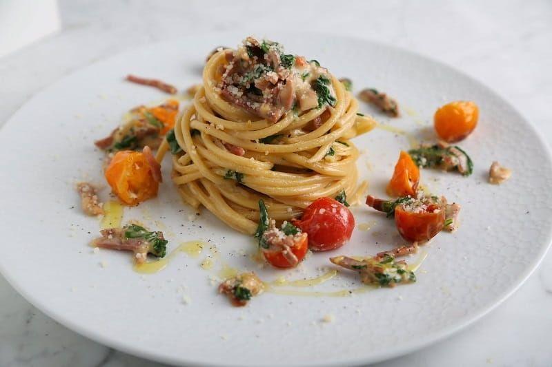 Bucatini Pasta Recipe with Creamy Prosciutto
