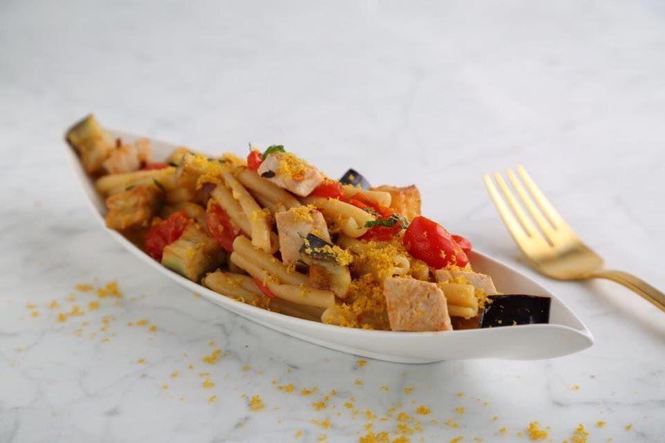 Collezione Casarecce Pasta Recipe with Swordfish