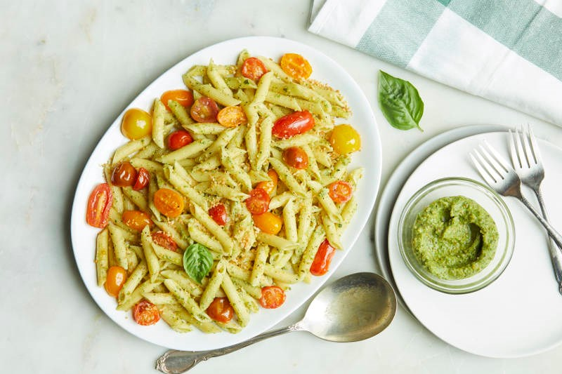 Chef'd Penne Pistachio Pesto Cherry Tomato recipe