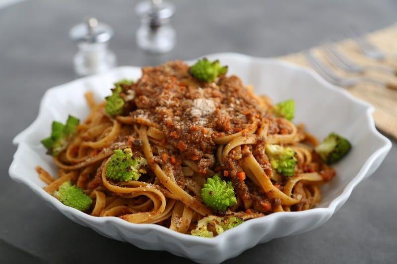 Fettuccine Pasta Recipe with Mushroom Ragout