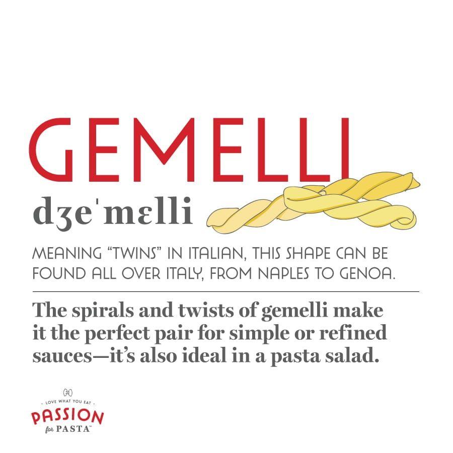 Gemelli Pasta Graphic