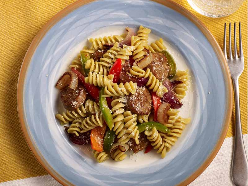 Grilled Sausage and Peppers Rotini Recipe