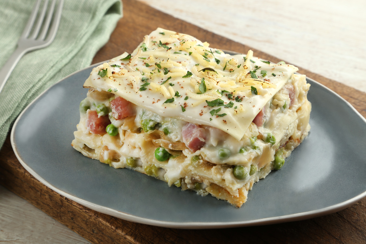 Ham and Brie Lasagna