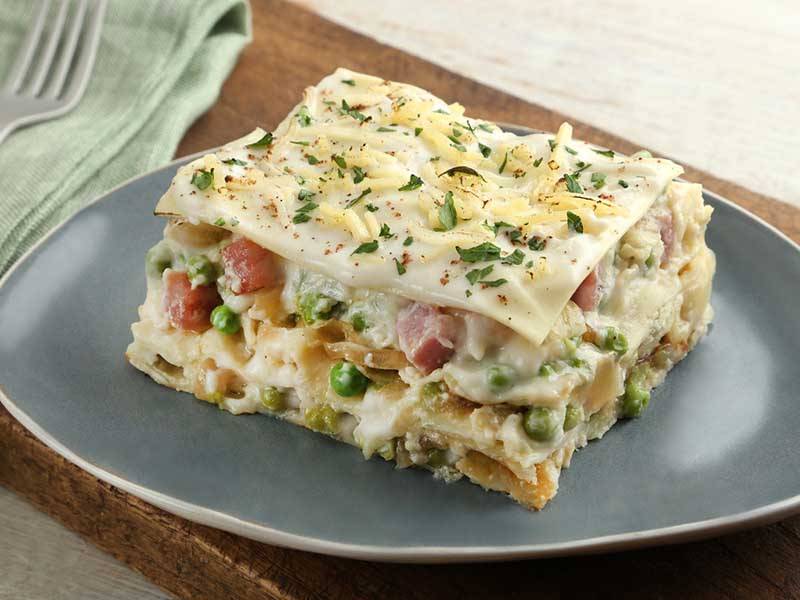 Ham and Brie Lasagna