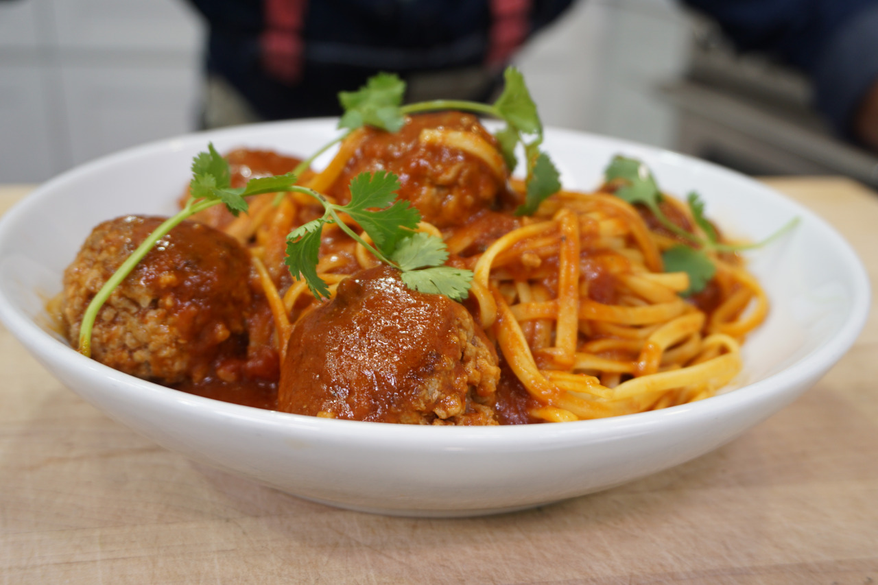 Linguine with Chipotle Meatballs