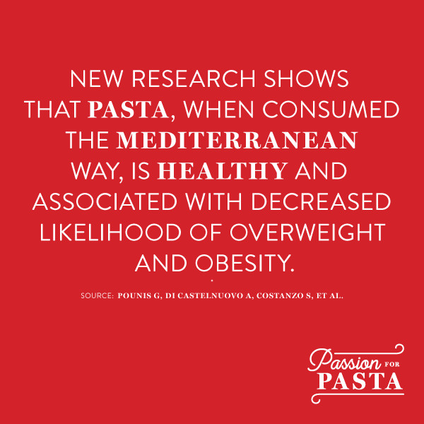 Health Benefits of Pasta from Italian Research