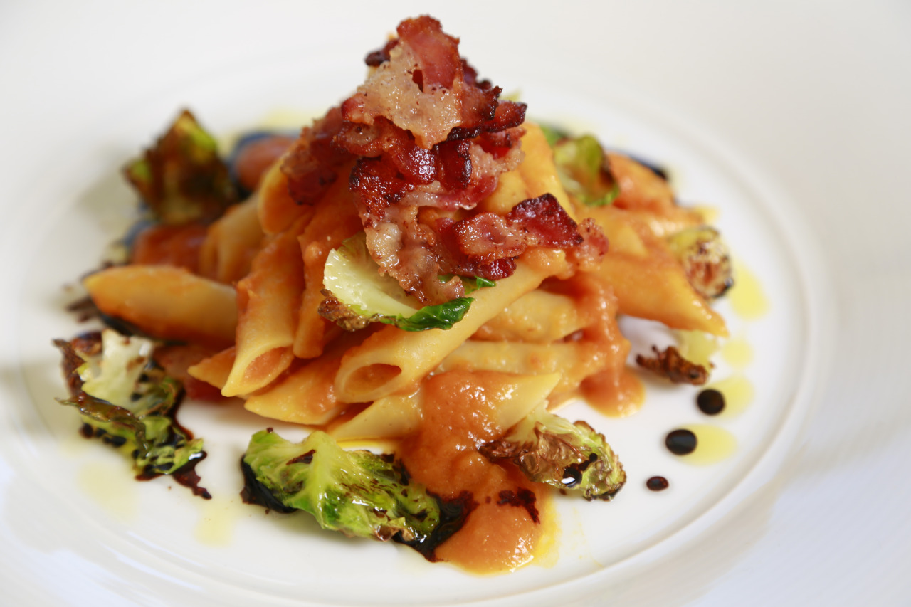 Mostaccioli with Pumpkin & Brussel Sprouts Recipe