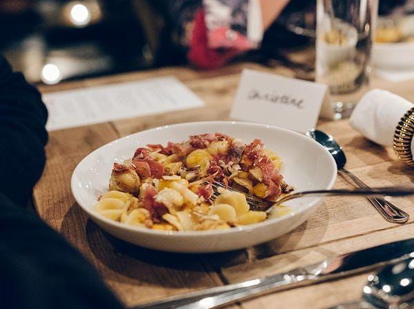 Orecchiette with Squash, Prosciutto & Aged Balsamic Vinegar