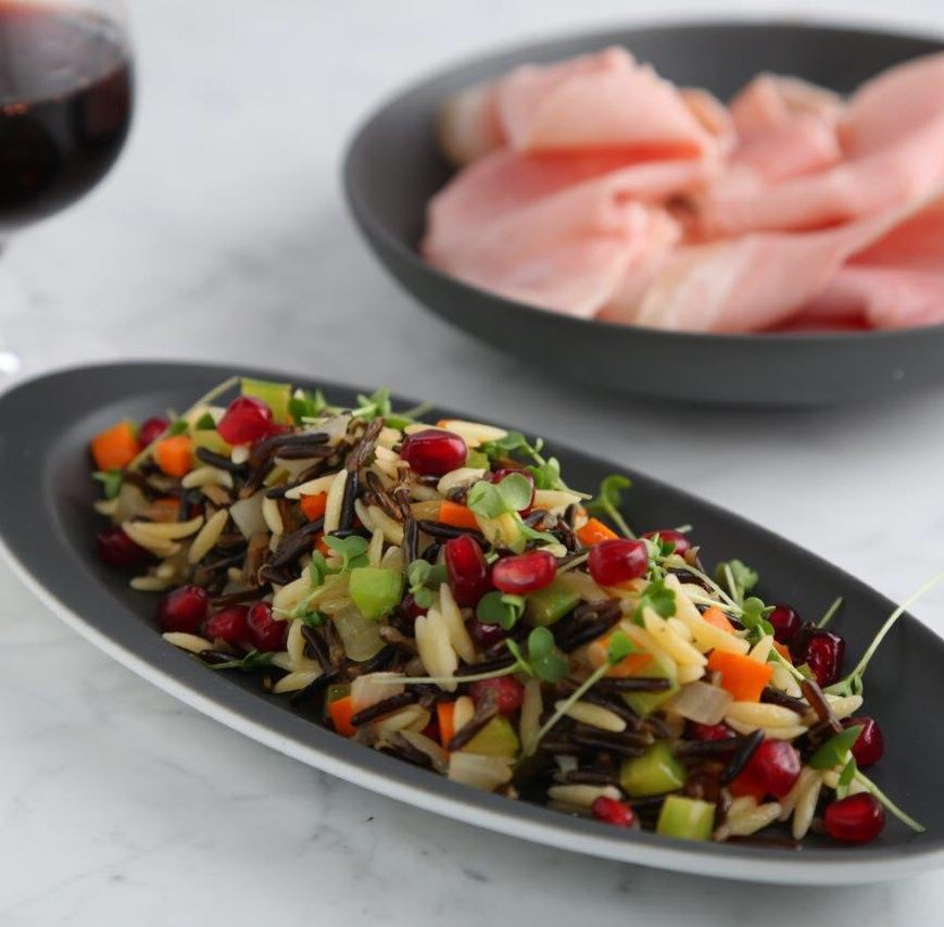 Orzo and Wild Rice Salad with Crunchy Vegetables