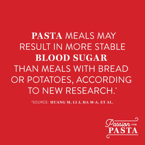 Pasta and More Stable Blood Sugar Nutrition Study