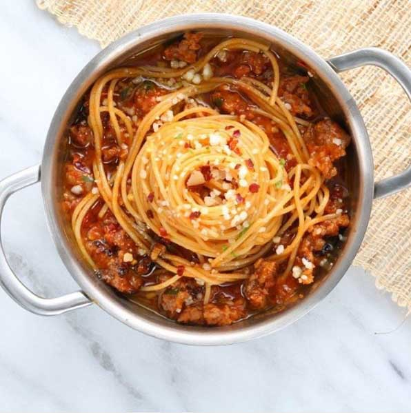 Spaghetti with Spicy Italian Sausage Recipe