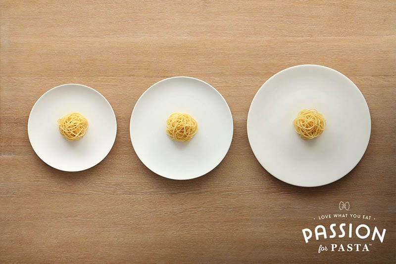 plate size portions