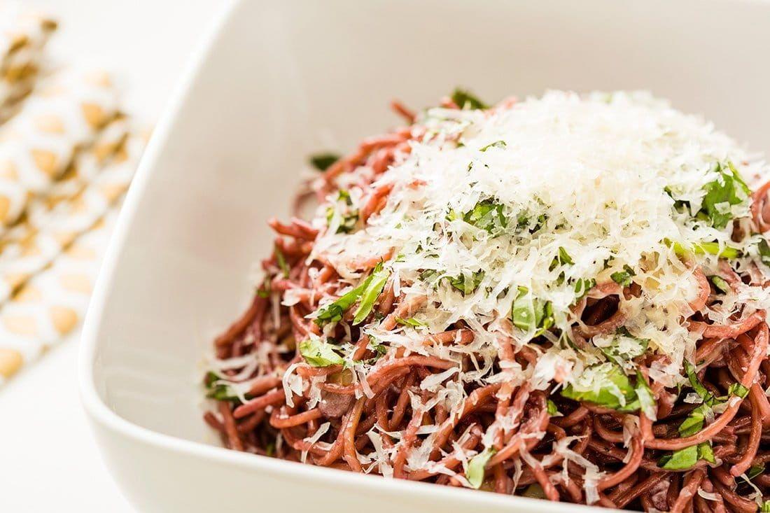 Brit + Co. Red Wine Pasta Recipe